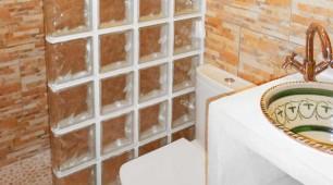 Cuarto de baño del antiguo establo